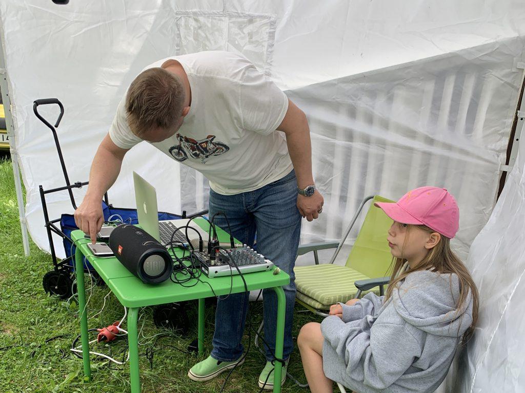 Radio Viekas 2021 ryhmä 1:n studio